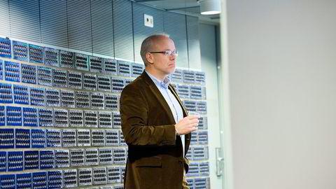 Oslo 2016-01-25 Google-topp Jan Grønbech. Knut Olav Åmås (tv) avholder første innspillsmøte i regi av Mediemangfoldsutvalget. Foto: Per Ståle Bugjerde