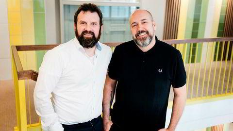 Strategisk rådgiver Pål Fasseland (til venstre) og administrerende direktør Kristian Kristiansen i SMFB. Foto: SMFB