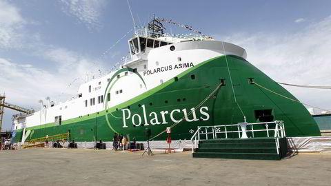Båten «Polarcus Asima» i Dubai onsdag ettermiddag. Båten er et seismikkfartøy som tilhører Polarcus ltd. Foto: Lise Åserud / Scanpix