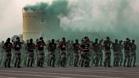 Saudi-Arabia må heretter klare seg uten danske våpen. Her saudiske sikkerhetsstyrker i Mekka.