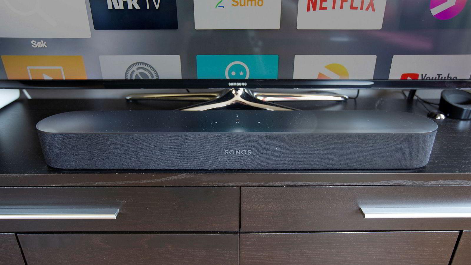Sonos Beam senker terskelen for å bruke Sonos også til tv-lyd. Den er både mindre og rimeligere enn Sonos' eksisterende lydplanker.
