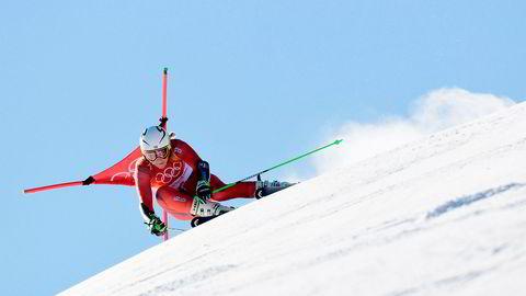 NRK mister flere verdenscuprenn og VM i alpin og nordisk de neste fem årene. Her alpinisten Ragnhild Mowinckel under OL i Sør-Korea, 2018.