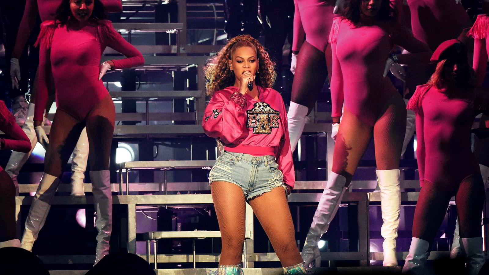 9. mai avslørte DN at Beyoncés (bildet) og Kanye Wests lyttertall er manipulert på strømmetjenesten Tidal. Foto: Kevin Mazur/Getty Images for Coachella/NTB Scanpix