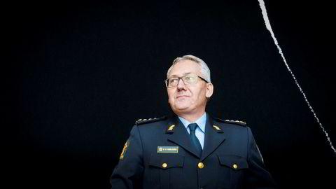 Politidirektør Odd Reidar Humlegård (til venstre) og avdelingsdirektør Knut Smedsrud under høringen om objektsikring.