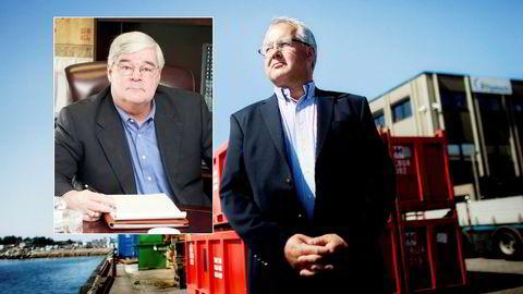 Eirik Bergsvik (til høyre) blir ny administrerende direktør og amerikaneren Pete Miller ny styreleder i MH Wirth. Begge har lang fartstid fra erkekonkurrenten NOV.
