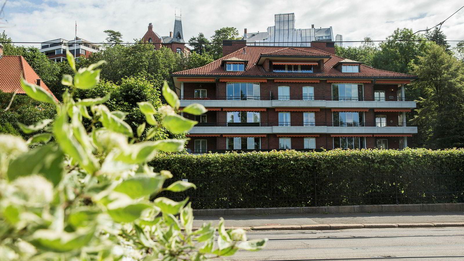 Matvarearving Lars Staff har solgt sin gigantleilighet i dette bygget på Skarpsno i Oslo for 61 millioner kroner til investor Brian Jepsen.