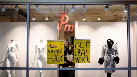 Denne butikken Pm-butikken på Manglerudsenteret tømte varelageret etter konkursen tidligere i høst.