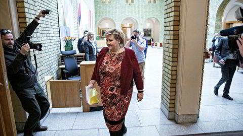 Statsminister Erna Solberg tar «æren» for regjeringens fikse idé om hvordan det kan brukes mer oljepenger utenom handlingsregelen.