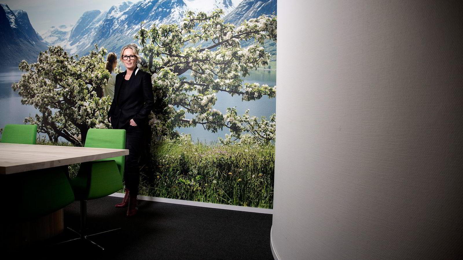Toppsjef Anita Krohn Traaseth i Innovasjon Norge sier hun trenger å blogge om selskapets interne prosesser for å klare jobben. Foto: Fredrik Bjerknes