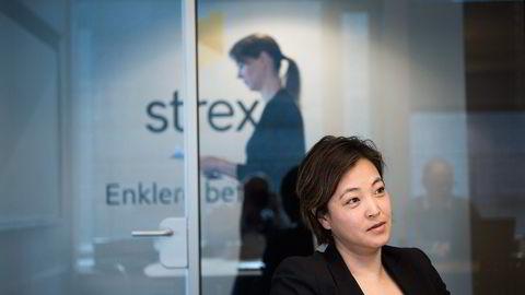 Hege Kosberg i Strex styrer pengebruken din til mobiltelefonen. Foto: Per Ståle Bugjerde