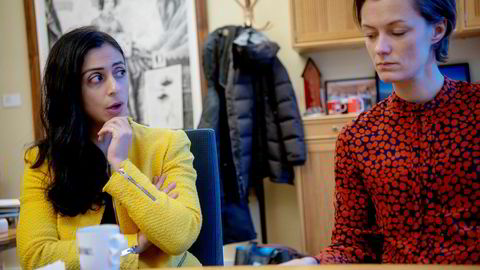 Ap-nestleder Hadia Tajik og Aps likestillingspolitiske talsperson Anette Trettebergstuen mener næringslivet taper på få kvinner i toppen.
