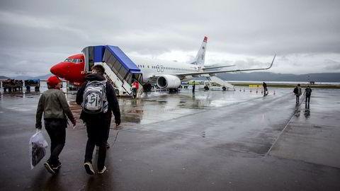 Norwegian vant rettssaken mot de ansatte i Høyesterett. Her fra Alta lufthavn.