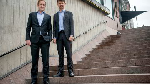 – Skjeggkre har vært med å drive en del av veksten i Norge, sier Norvestor-partner Fredrik Korterud (til høyre). Her med kollega Karl Svozilik.