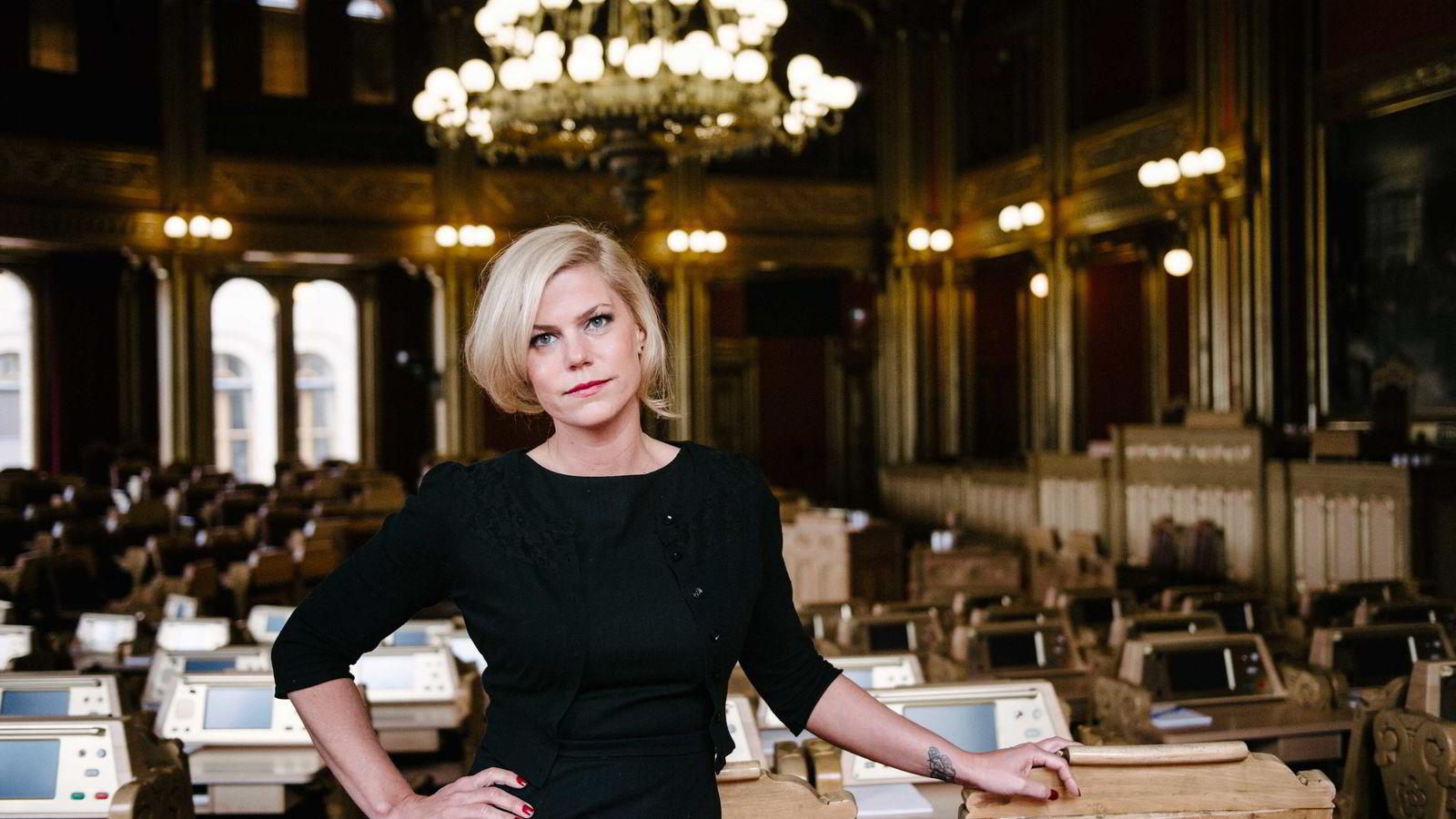 Jette F. Christensen (Ap) i kontroll- og konstitusjonskomiteen på Stortinget.