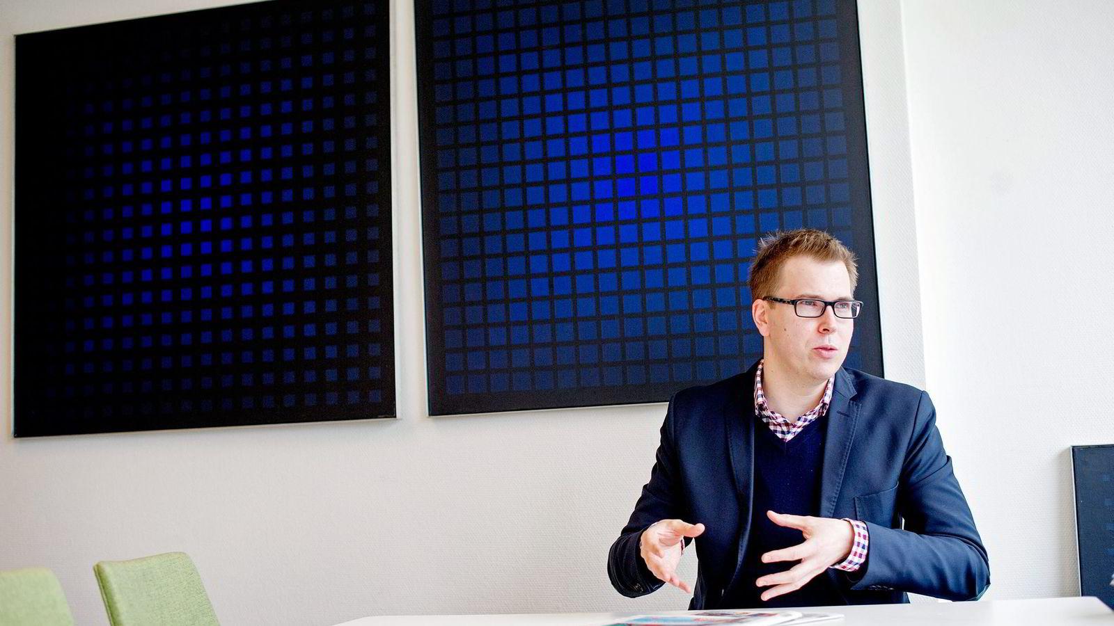 Sjefredaktør og administrerende direktør i Dagsavisen, Eirik Hoff Lysholm.