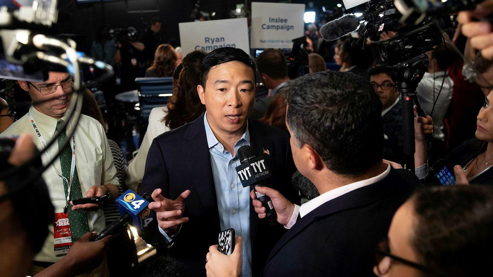 Andrew Yang har fått mye oppmerksomhet for sine teknologiske ideer i presidentkampen.