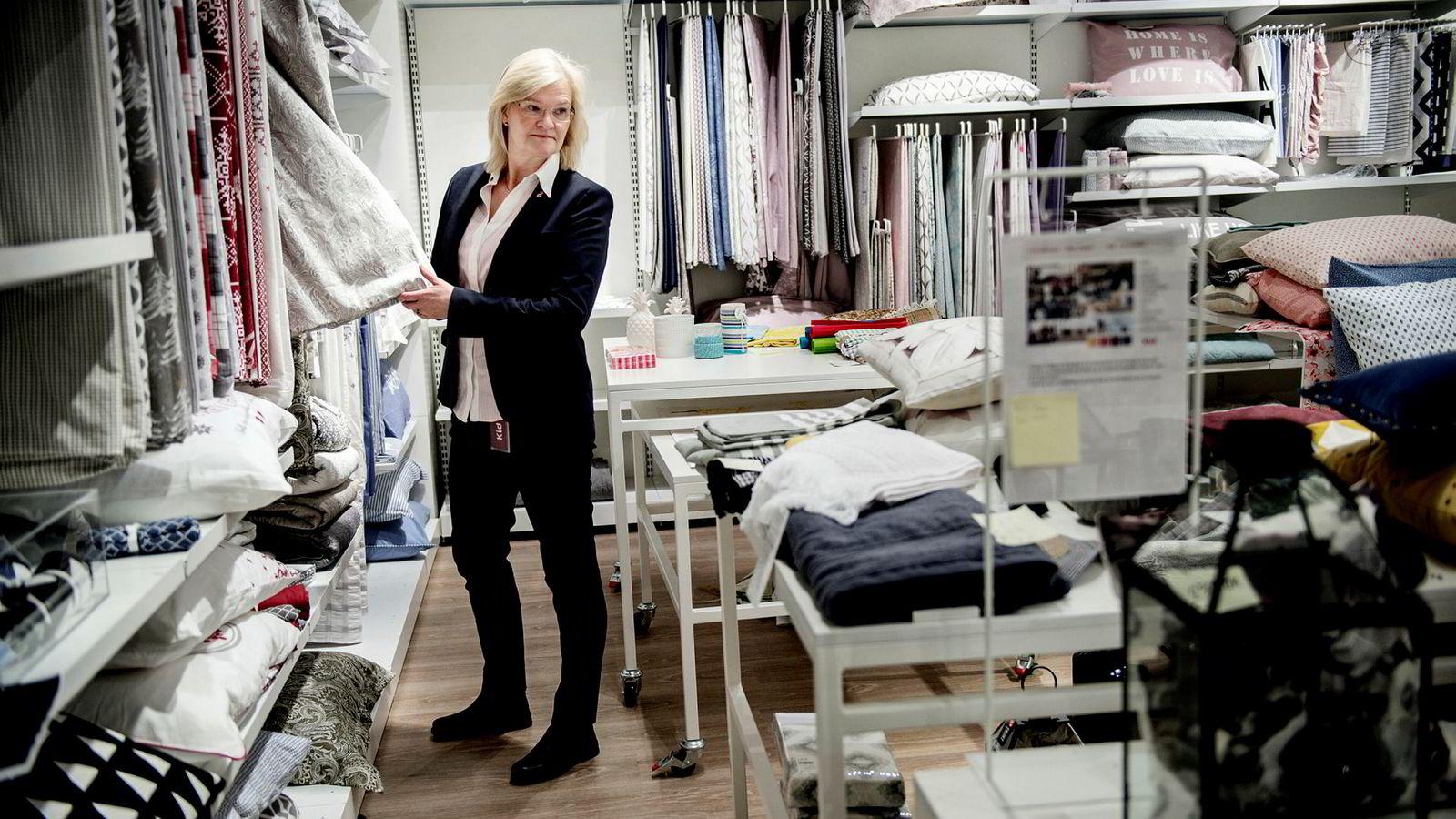 Kid-sjef Kjersti Hobøl er fornøyd med omsetningsveksten i andre kvartal