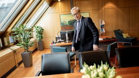 Oslo - Norge - 15.02.2018: Øystein Olsen Norges bank - Sentralbanksjef Øystein Olsen i Norges bank.