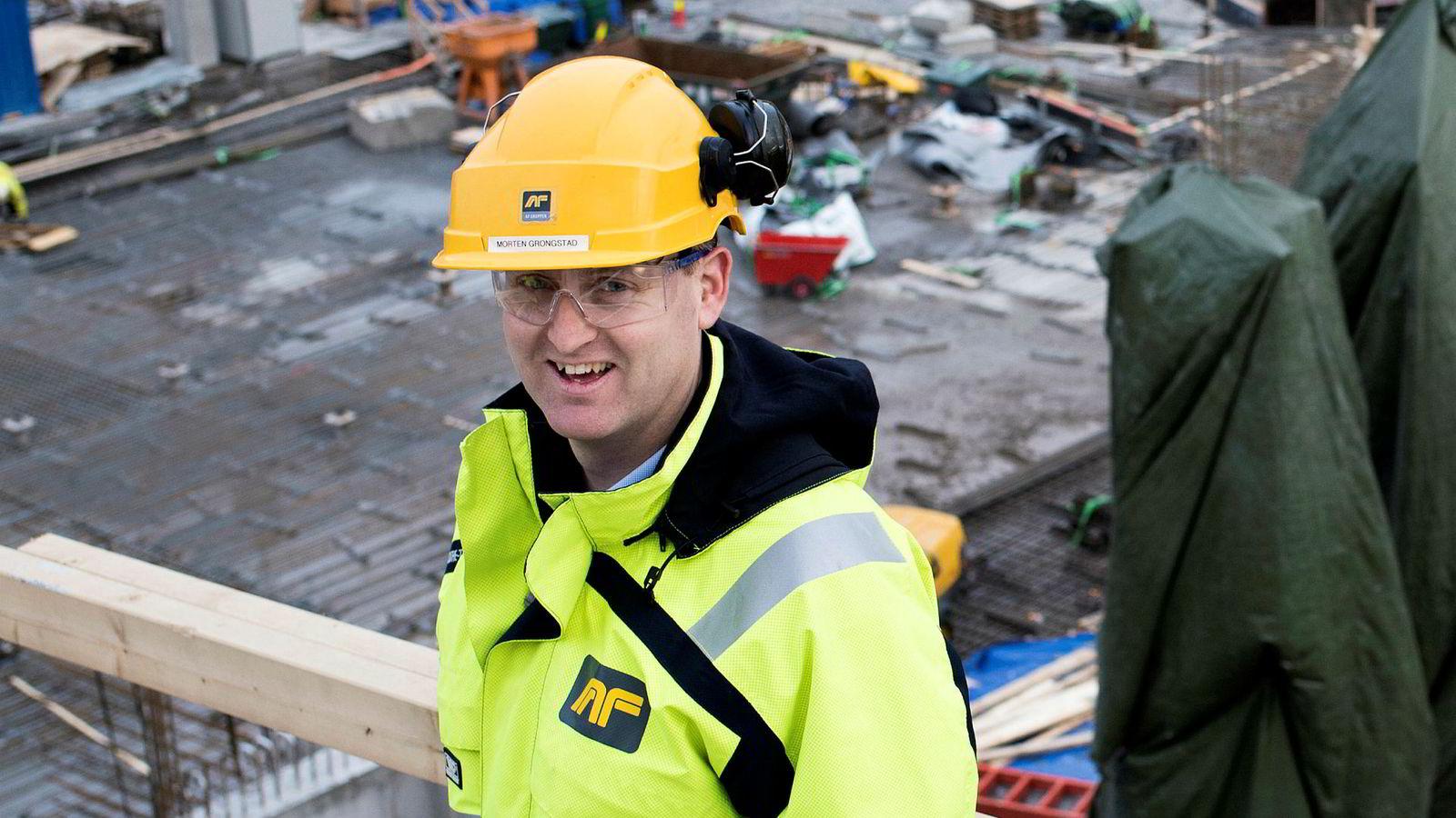 – Jeg er imponert over at vår egen organisasjon både klarer å vokse og levere så gode marginer når de arbeider med så mye risiko, sier konsernsjef Morten Grongstad i AF-gruppen.