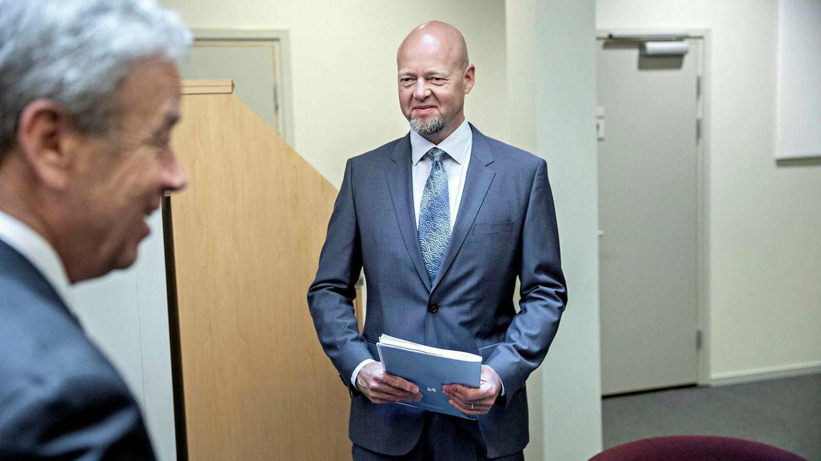 Ifølge Norges Bank begrenser dagens mandat Oljefondets mulighet til å tilpasse seg finansielle konsekvenser av klimaendringer. Her oljefondsjef Yngve Slyngstad.