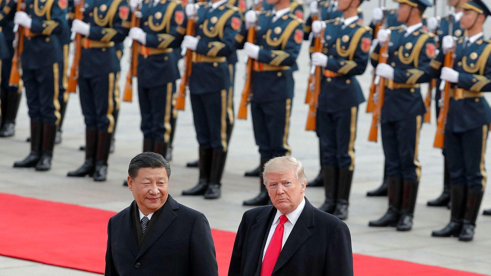 USAs president Donald Trump vil bruke Nato til å hamle opp med Kinas sterke mann Xi Jinping. Xi har vært på rundreise i Europa denne uken.