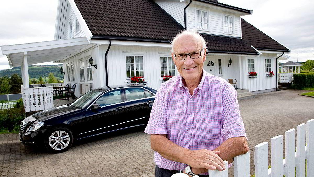 Erling Ødegården (70) på Biri i Gjøvik har de siste årene hatt et årlig utbytte på over 80.000 kroner på sine Veidekke-aksjer.