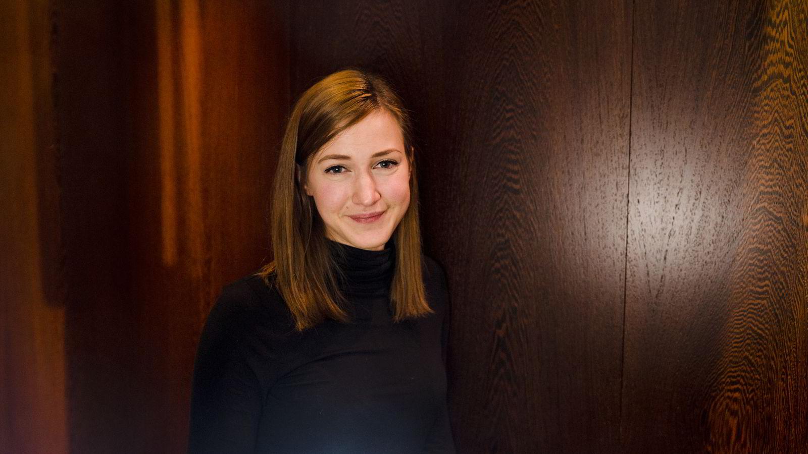 Tror på fleksibilitet. Siri Beate Arntzen er den yngste på scenen under NHOs årskonferanse i dag.