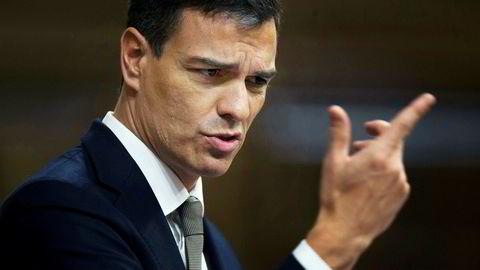 I juli møtte en spansk statsleder en katalansk leder for første gang på to år. Siden har Spanias nye statsminister Pedro Sanchez (bildet) hatt samtaler med Catalonias regionspresident Quim Torra om områdets fremtid.