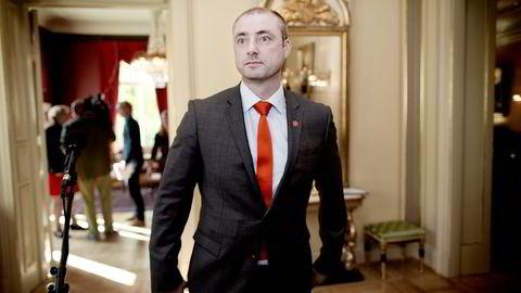 Tidligere arbeidsminister Robert Eriksson (Frp). Foto: Ida von Hanno Bast