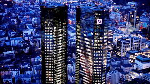 Deutsche Bank vil trolig flytte verdier for flere milliarder euro hjem til Tyskland. På bildet er bankens hovedkontor i Frankfurt, Tyskland.