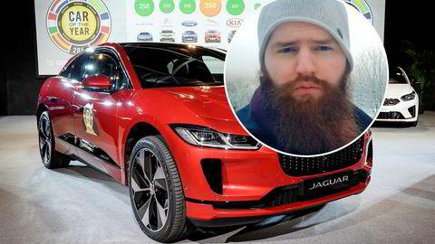 Jaguar Land Rover har inngått et samarbeid med Iota, der David Sønstebø er blant grunnleggerne. Bildet viser en elektrisk Jaguar I-Pace.