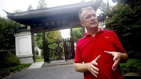Jan Ketil Arnulf, professor i ledelse og organisasjon ved Handelshøyskolen BI og dekan. Her fotografert i Shanghai i 2013. Foto Mikaela Berg