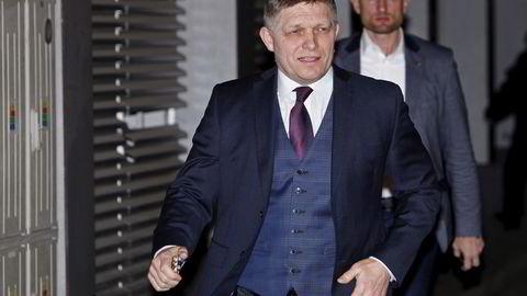Slovakias statsminister Robert Fico kan styre videre etter lørdagens valg i landet. Foto: Reuters / NTB scanpix