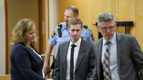 Terrorsiktede Philip Manshaus i Oslo tingrett for sitt andre fengslingsmøte.