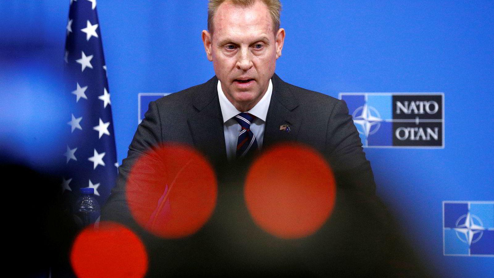 Etter det DN kjenner til, sa USAs fungerende forsvarsminister Patrick Shanahan, på middagen med allierte, at det er uakseptabelt å ikke nå målsetningen om to prosent av bnp.