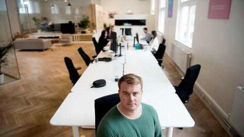 Gründerbedriften Memory, med Mathias Mikkelsen i spissen, skal ansette 30 nye personer. Foto: Mikaela Berg