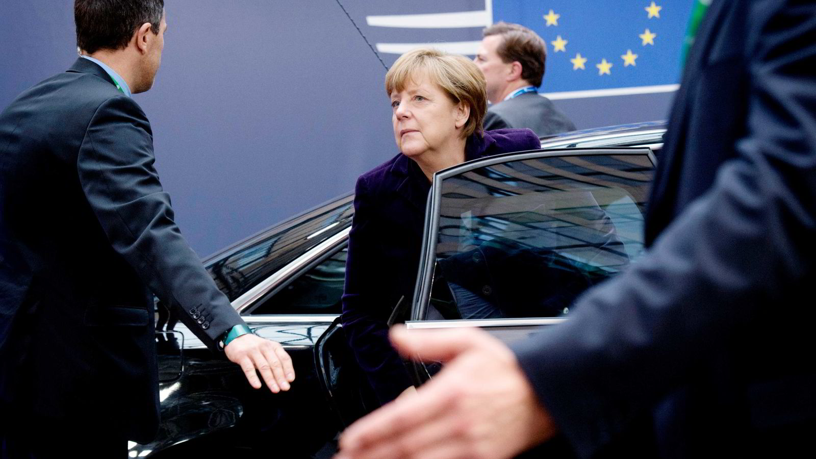 Tysklands forbundskansler Angela Merkel ankommer EU-toppmøtet. Foto: Geert Wijngaert, Ap/NTB Scanpix