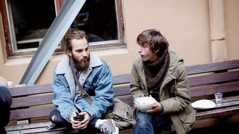 Populærmusikkstudentene Even Tekrø (23) og Hans Olav Settem (21) føler de ikke fikk svar på alle spørsmål. Foto: