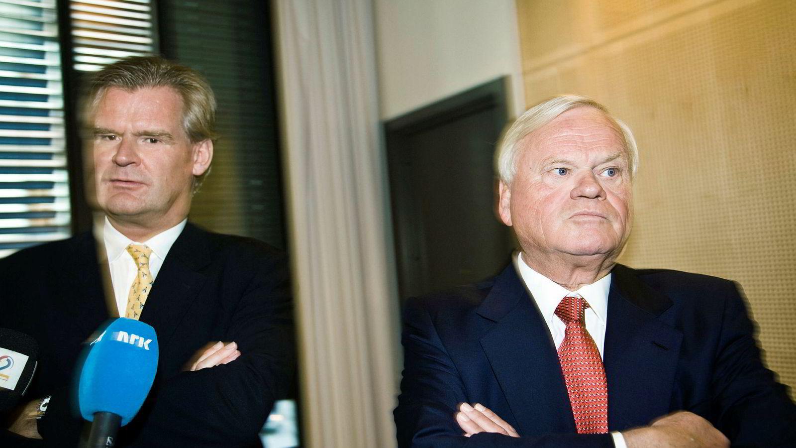 Tor Olav Trøim (til venstre) og John Fredriksen.