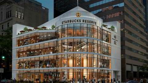 Verdens største Starbucks åpner i Chicago, USA 15. november.