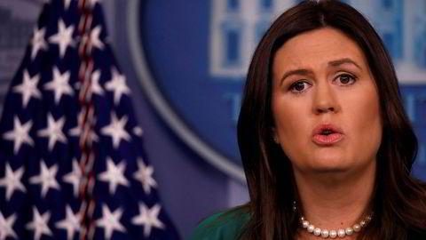 Pressesjef i Det hvite hus, Sarah Huckabee Sanders, skal ha sendt ut en omstridt video på sosiale medier.