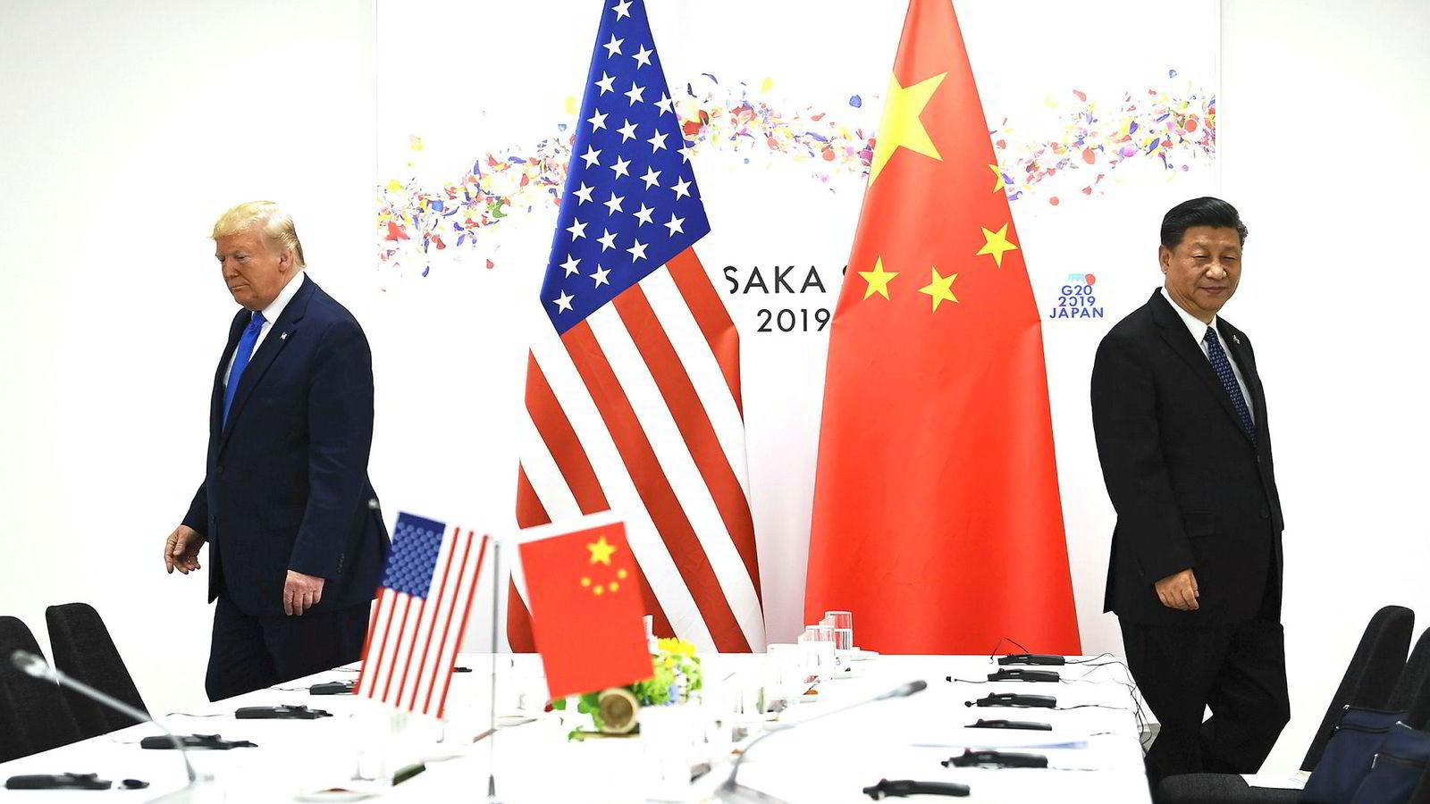 USAs president Donald Trump og Kinas president Xi Jinping deltok på G20-møtet i Osaka 29. juni.
