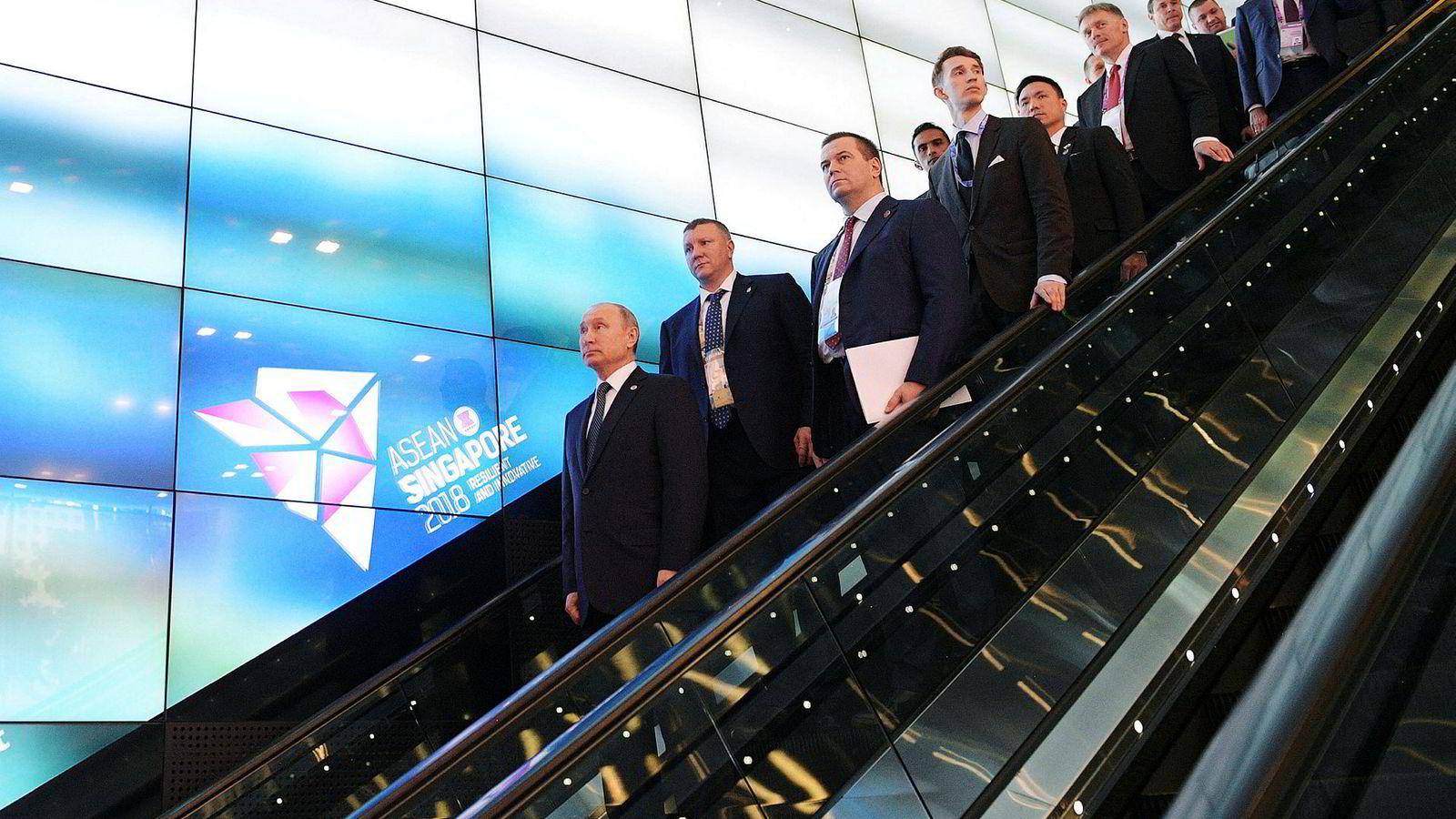 Russlands president Vladimir Putin er i Singapore i forbindelse med Asean-møtet.