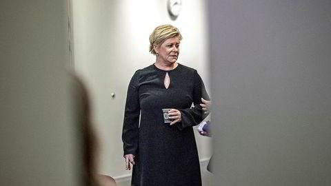 Finansminister Siv Jensen legger frem revidert nasjonalbudsjett tirsdag