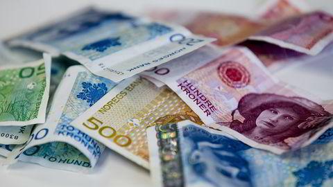 Illustrasjonsbilder av økonomisk kriminalitet, hvitvasking av penger. Pengesedler.                   Foto: Stian Lysberg Solum / NTB scanpix