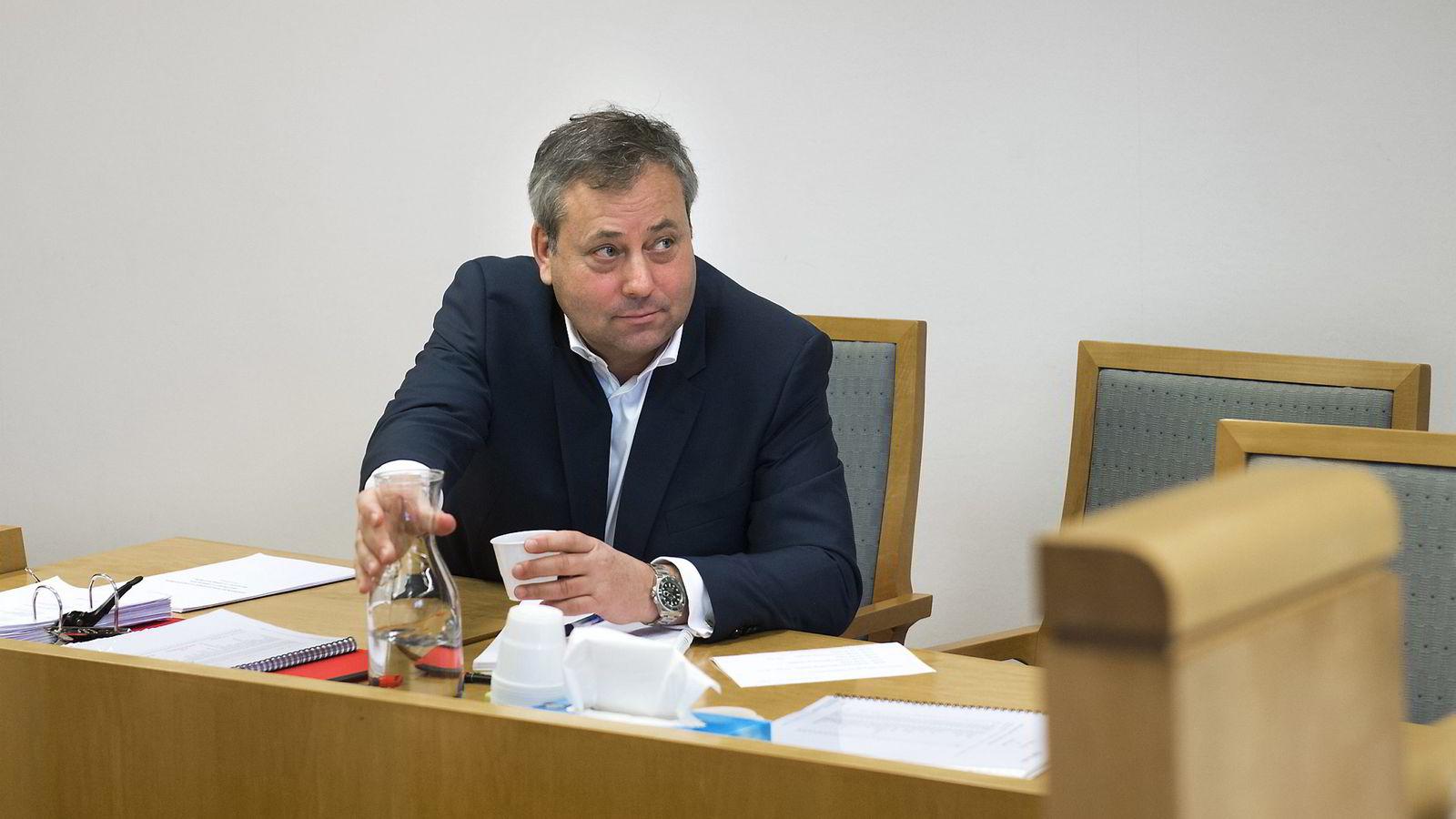 Arve Juritzen  var sin egen advokat da rettssaken var oppe i Oslo tingrett mandag i forrige uke.