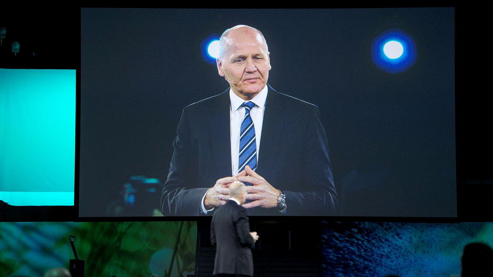Telenor-sjef Sigve Brekke legger ikke skjul på at fjoråret bød på noen utfordringer. Torsdag deltok han på NHOs årskonferanse i Oslo.