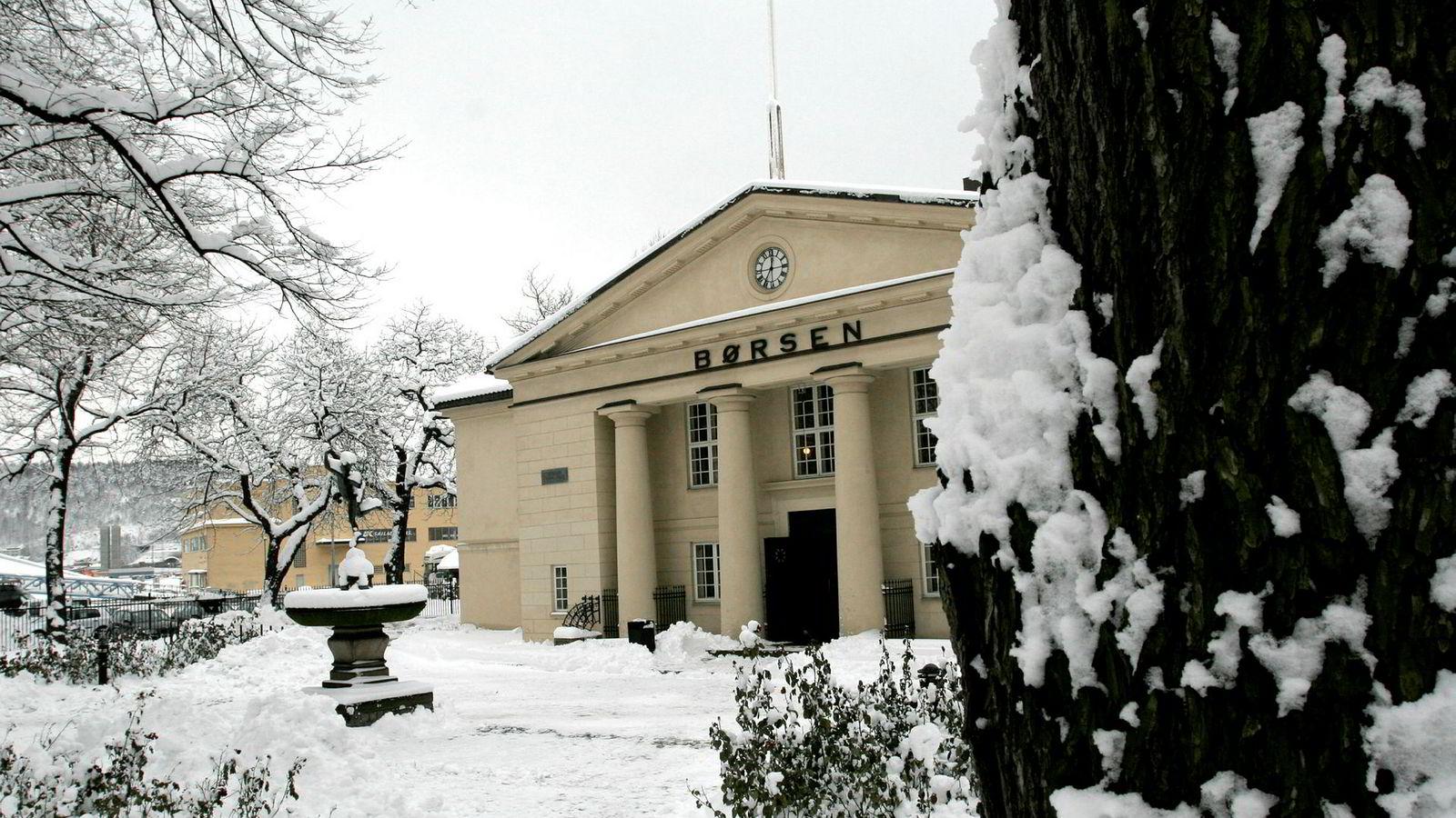 Oslo Børs vinter 09 Foto: Gunnar Lier ---
