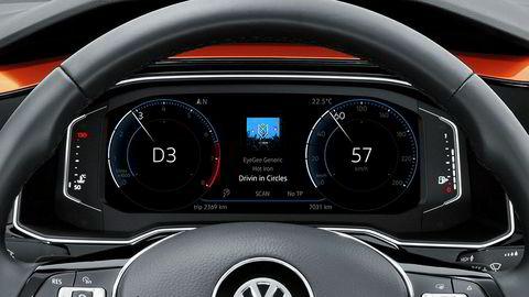 Den nye Volkswagen Polo har digitale instrumenter, og er den første modellen fra VW med andre generasjon.