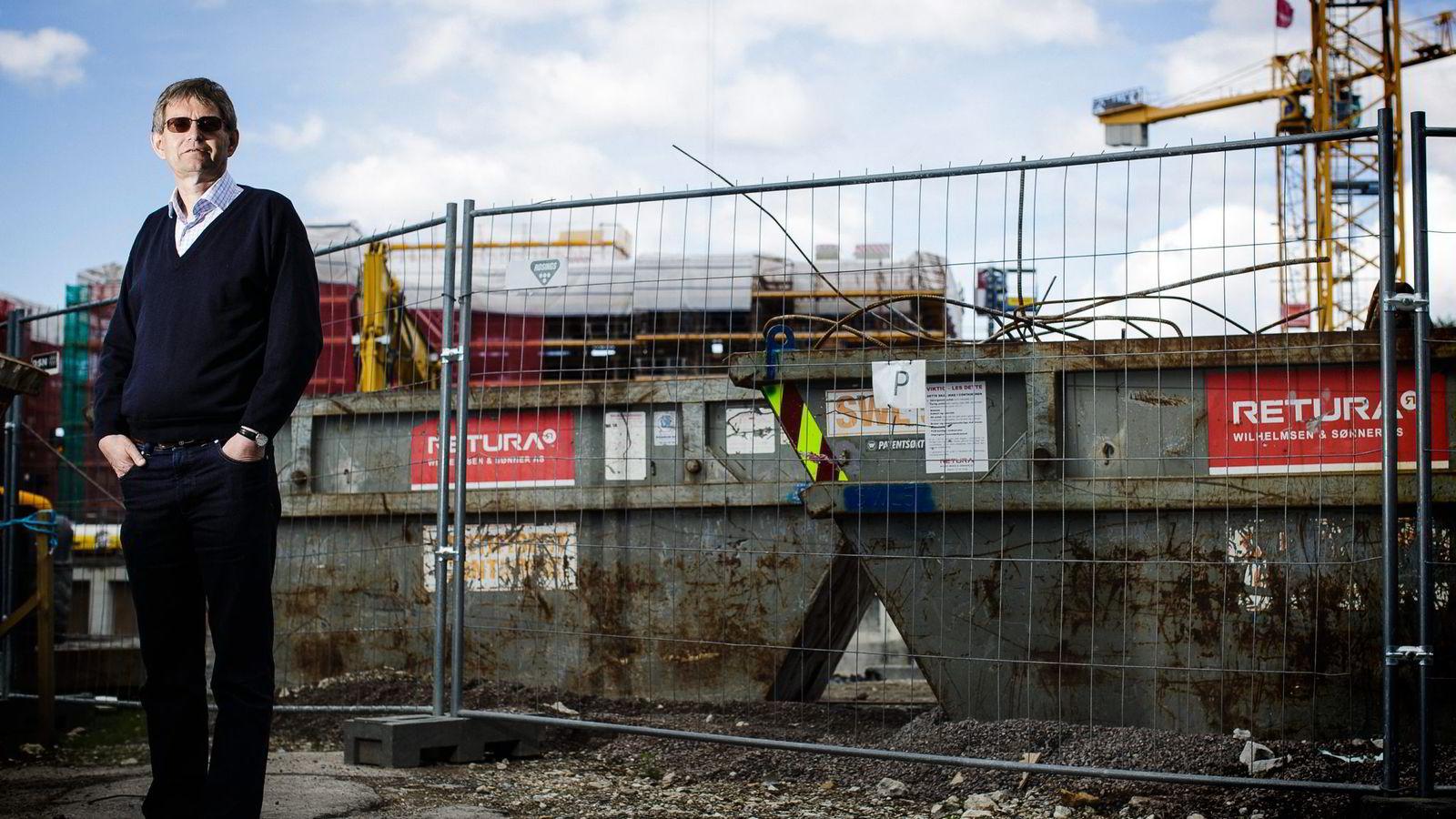 Administrerende direktør Per Jæger i Boligprodusentenes Forening mener et rekordhøyt nyboligsalg tyder på at det vil bli bygget mer fremover. Foto: